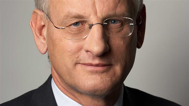 Breakfast meeting with Carl Bildt